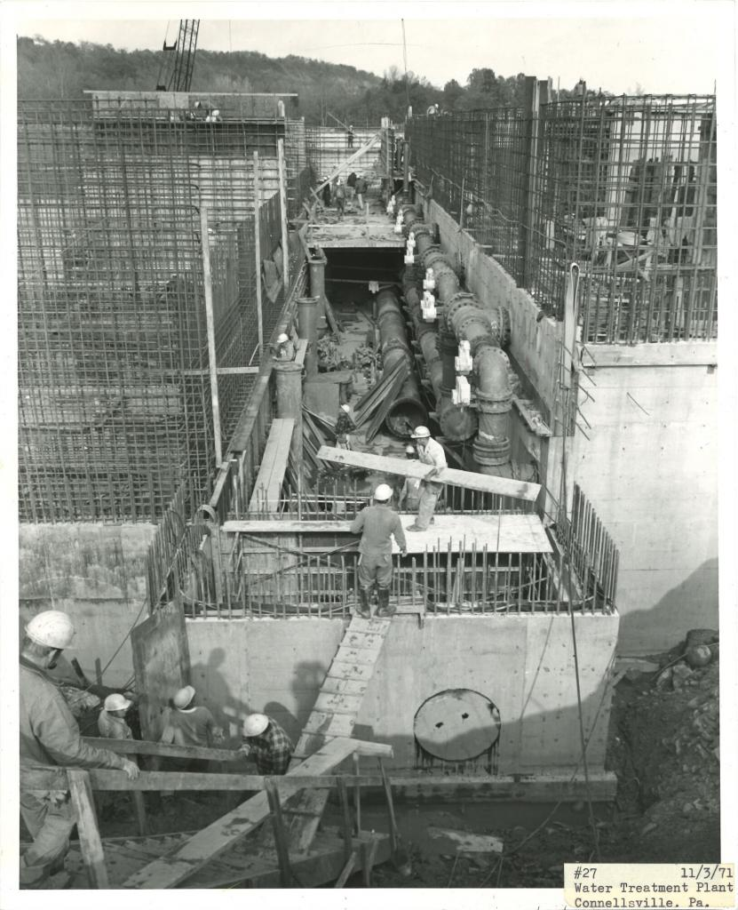 1971 Indian Creek treatment plant construction